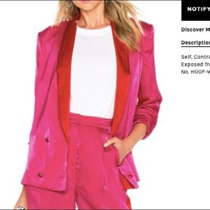 House of Harlow x Revolve Pink and Red Blazer